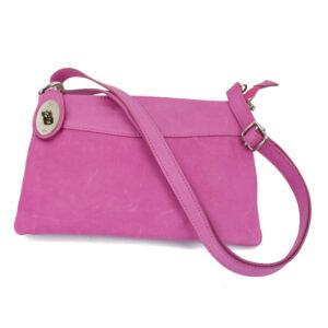 δερμάτινη τσάντα σε χρώμα ροζ