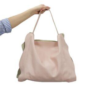 δερμάτινη τσάντα mp 1922 σε χρώμα ροζ