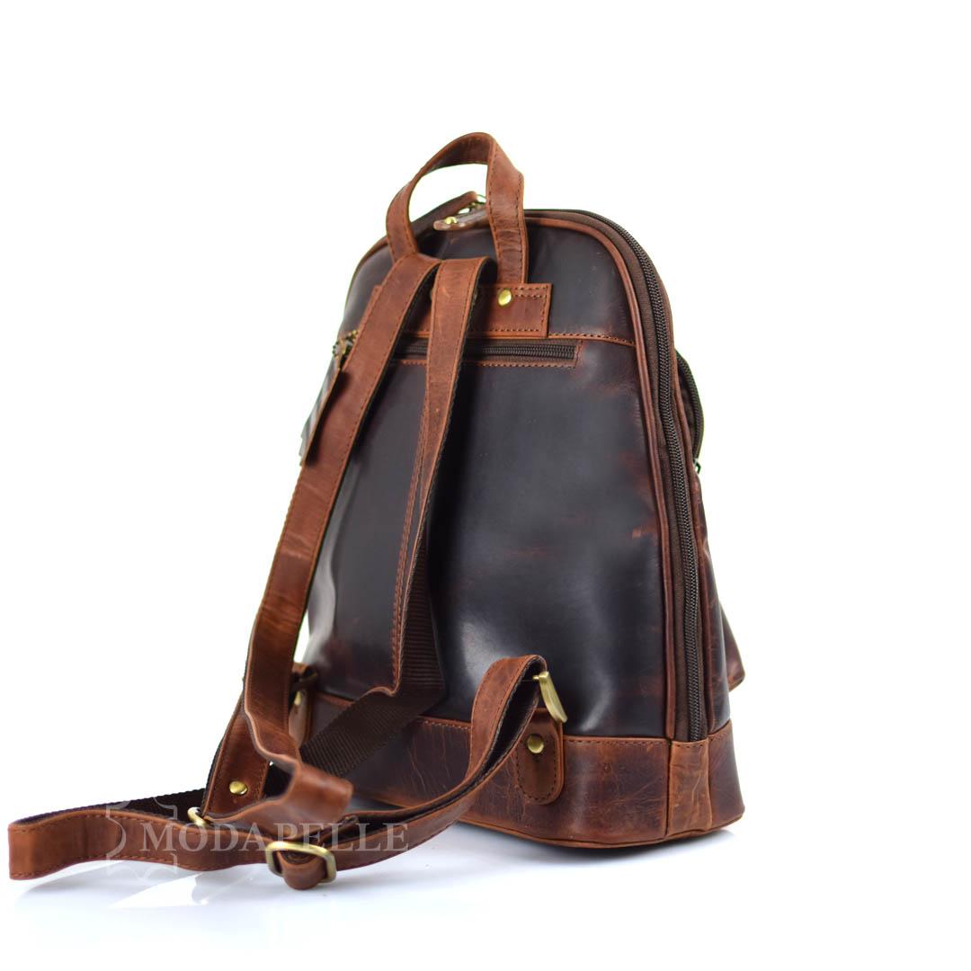 δερμάτινη τσάντα πλάτης - backpack σε καφέ χρώμα