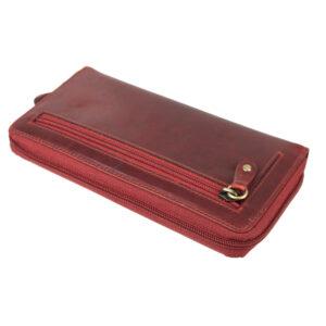 δερμάτινο πορτοφόλι γυναικείο σε μπορντό χρώμα