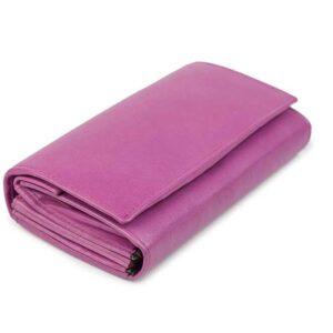 δερμάτινο πορτοφόλι γυναικείο σε ροζ χρώμα
