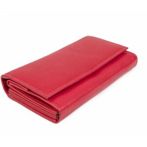 δερμάτινο πορτοφόλι γυναικείο σε κόκκινο χρώμα
