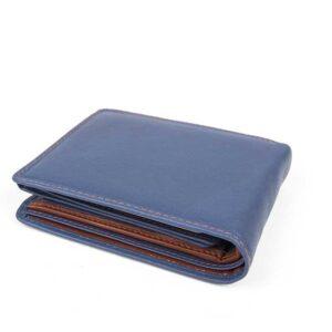 δερμάτινο πορτοφόλι ανδρικό σε μπλε χρώμα