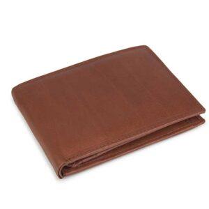 δερμάτινο πορτοφόλι ανδρικό σε ταμπά χρώμα