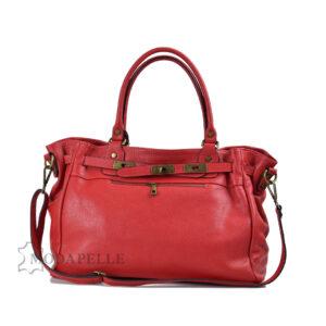 δερμάτινη τσάντα σε χρώμα κόκκινο